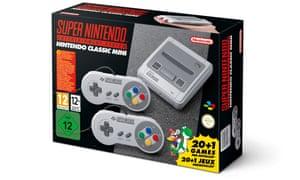 the nintendo classic mini snes in its box