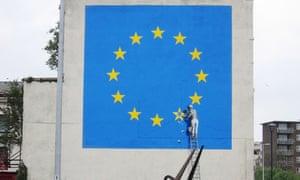 Banksy Europe Flag