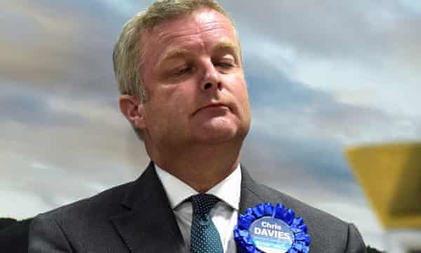 Conservative MP Chris Davies after losing his seat.
