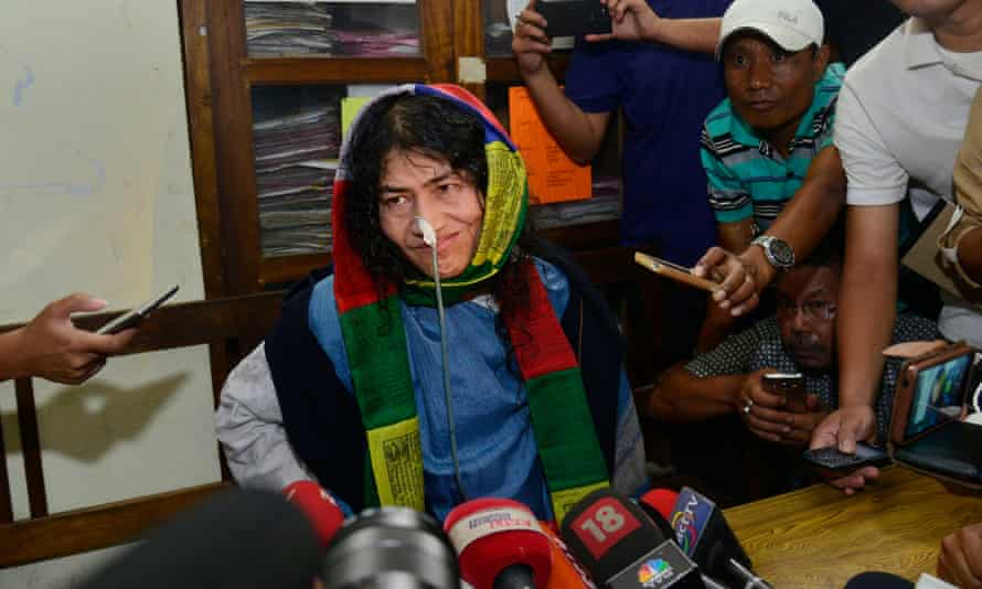 Irom Chanu Sharmila has become a symbol of resistance against state violence.
