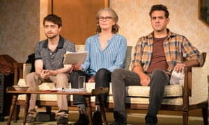 Daniel Radcliffe, Cherry Jones, and Bobby Cannavale in The Lifespan of a Fact
