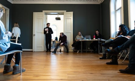 Henrik's house … rehearsals for Lady from the Sea in Ibsen's Victoria Terrasse flat.