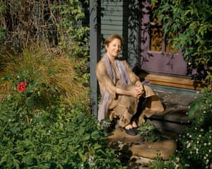 Alice Waters at home. Monterey Ave, Berkeley, CA.