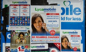 Lycamobile advertising posters