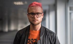 Headshot of whistleblower Christopher Wylie of Cambridge Analytica
