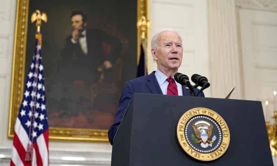 Biden in the White House on Tuesday. He hailed Eric Talley's bravery.