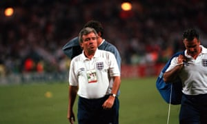 Terry Venables pictured at his last match as England Coach.