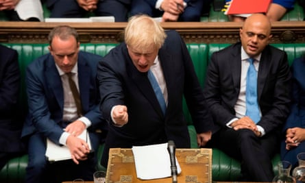 Boris Johnson speaking for the first time in the Commons as prime minister.