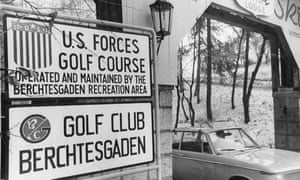 Entrance to Skytop Lodge, Berchtesgaden, 9 February 1970.