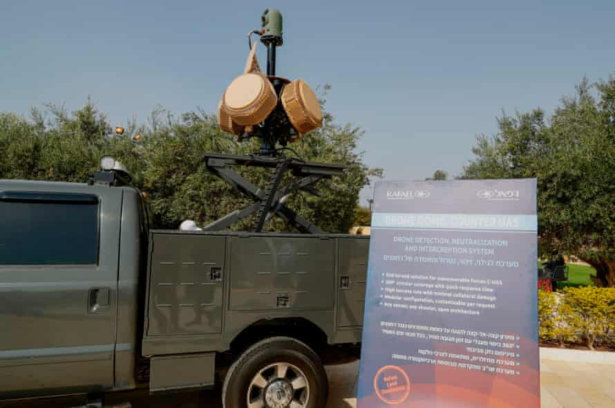 An anti-drone system on display at exhibition in Israel in November.