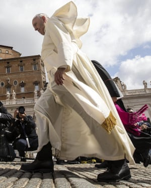 Pope Francis in St Peter's Square.