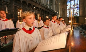 King's College choirboys. 'Recent research has shown that the main reason to join a choir isn't for the love of exulting to the heavens, but the love of the opposite sex.'