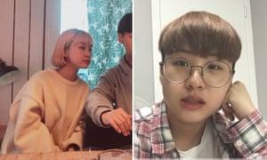 Cha Ji-won before she stopped wearing makeup and after.