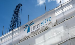Interserve sign on a construction site in London