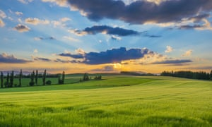 Picturesque farmland, Hokkaido.
