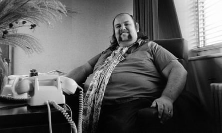 'A bear of a man': Peter Grant in October 1970 in his London office