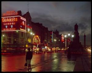 Dublin City by Night, photograph by E. Nagele