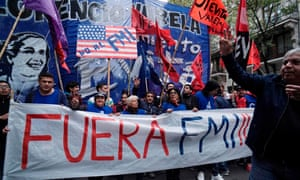 A demonstration against the government's negotiations with the International Monetary Fund in Buenos Aires on Thursday.
