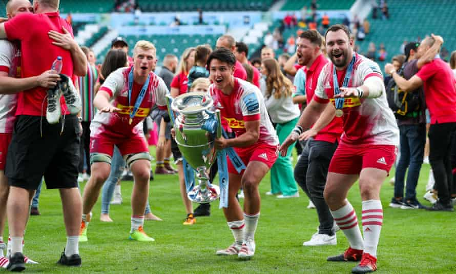 Harlequins' Marcus Smith after victory in the Premiership final