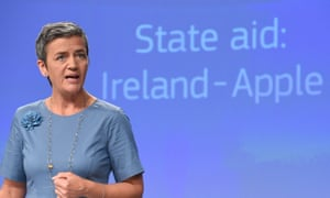 EU Competition Commissioner Margrethe Vestager has previously forced Apple to pay back illegal state aid from Ireland.