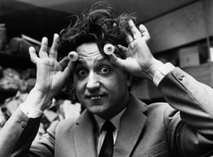 Dodd selects a pair of eyes to be used for his waxwork model at Madame Tussauds.