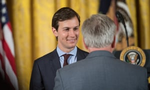 Donald Trump's son-in-law and adviser Jared Kushner in the east room on 5 June.