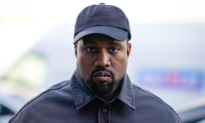 'At his best as the man behind the music' ... Kanye West at Paris Men's fashion week, 24 June 2018.