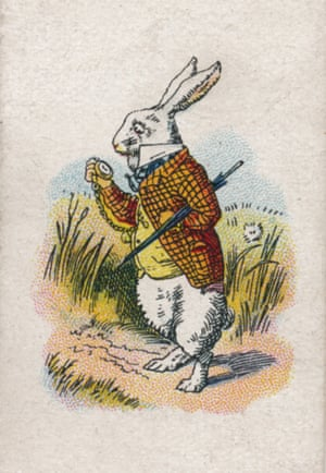 Reality check: the White Rabbit consults his watch, in Alice in Wonderland.