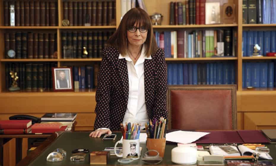 Katerina Sakellaropoulou in her office in Athens.