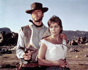 Clint Eastwood and Marianne Koch in A Fistful of Dollars, 1964