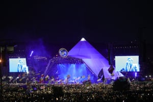 The gigantic Pyramid stage crowd for the Killers.