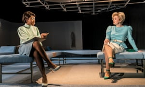I miss the intriguing historical resonances … Nadia Williams as Jeanine, and Jessica Brindle as Shona in Top Girls.