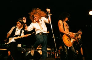 Guns N Roses performing at the 8th Annual Los Angeles Street Scene, September 1985.