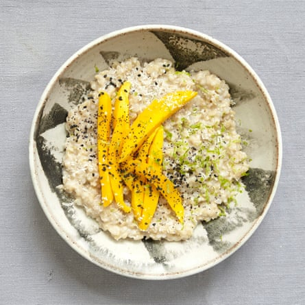 Steffi Knowles-Dellner's coconut brown rice porridge with mango and lime.