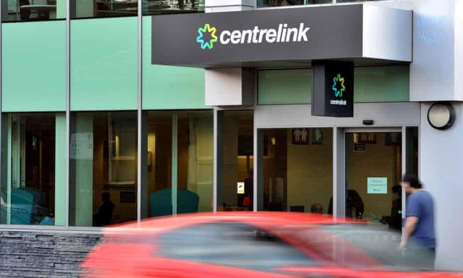 Centrelink signage is seen at the Yarra branch in Melbourne