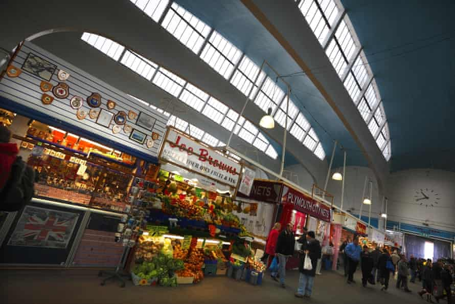 The Pannier covered market hall, 1960, by local architects Walls and Pearn.