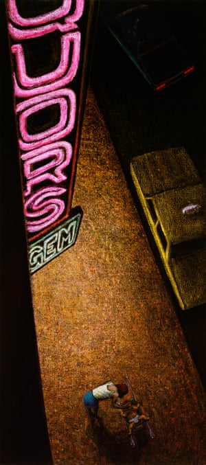 Liquors, 1984, oil stick on canvas