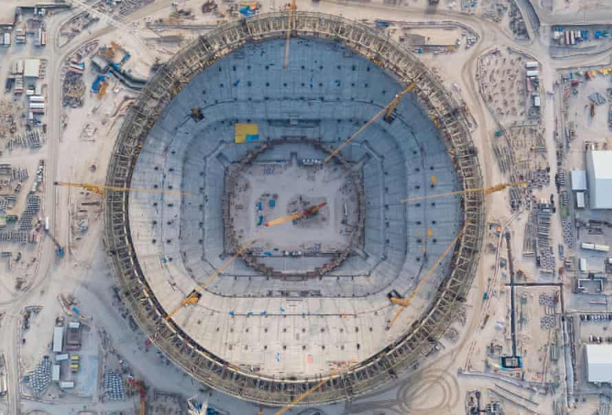 The Lusail Stadium under construction for the 2022 World Cup.