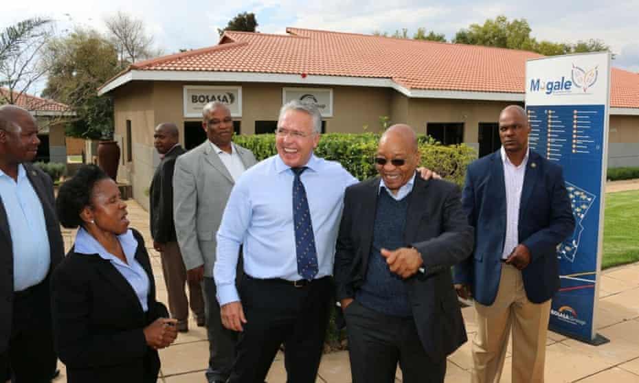 Former president Jacob Zuma with Bosasa CEO Gavin Watson