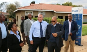 Gavin Watson with Jacob Zuma, the former president of South Africa