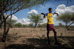 A young Pokot herder in his village outside the town of Chemolingot in Baringo County, Kenya