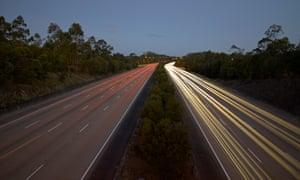 Lights on a highway