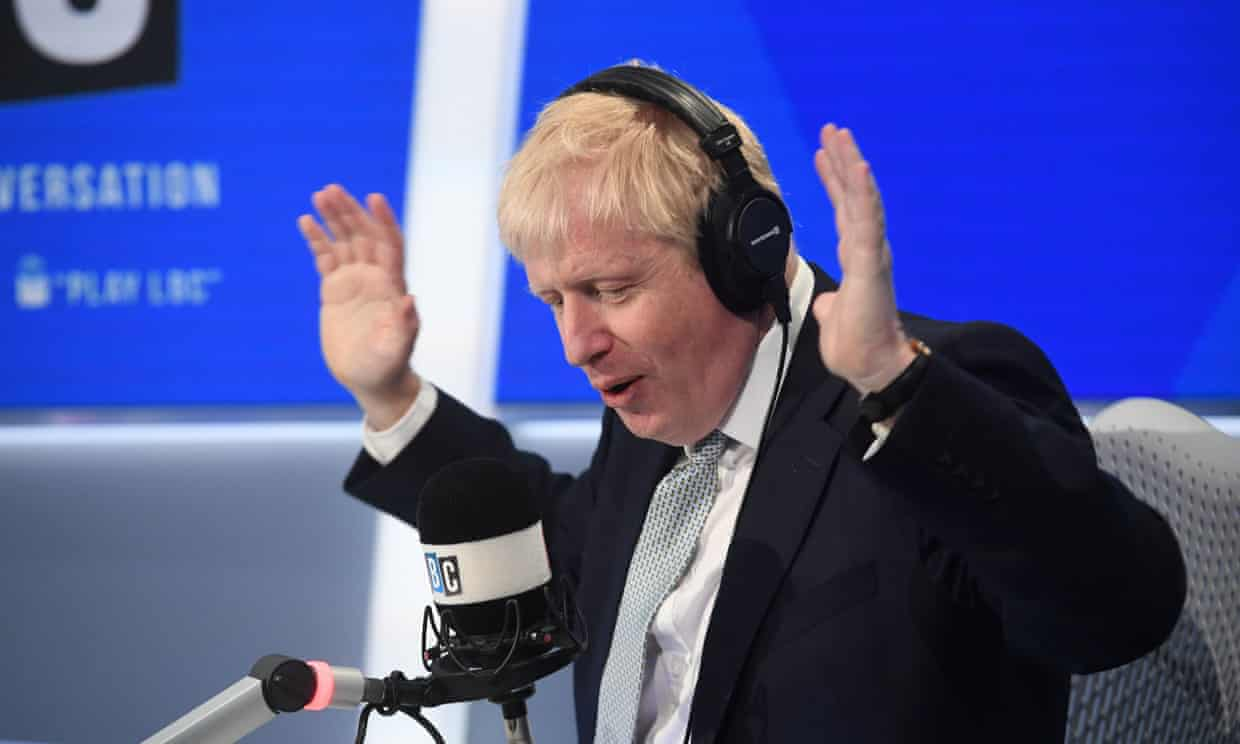 Bumbling Boris Johnson takes to the airwaves to lie, lie and lie again