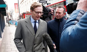Alexander Nix arrives at the offices of Cambridge Analytica in central London