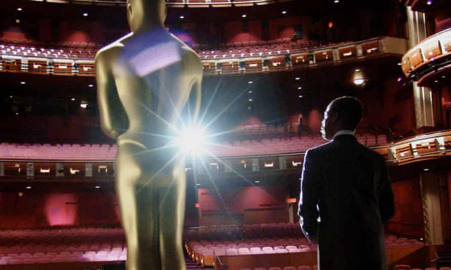 Anybody there? Chris Rock at a rehearsal for a previous Academy Awards show.