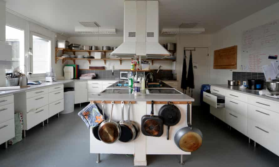 A kitchen inside a Swedish high-security prison.