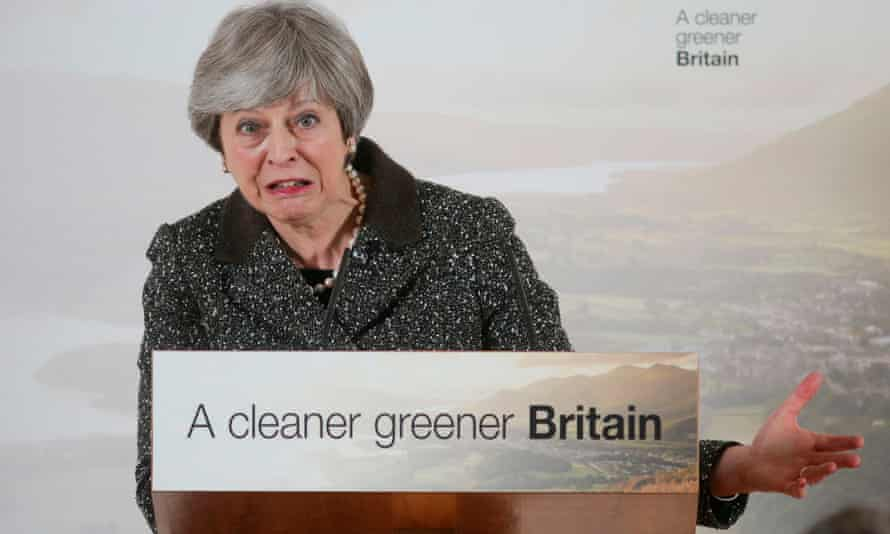 Theresa May launches the government's 25-year green plan in London. Wrap is in charge of looking into eliminating single-use plastic waste and increasing recycling.