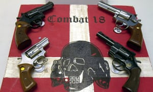 Weapons and a sign of the neo-Nazi group Combat 18 seized by German police