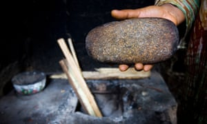 A stone used to iron breasts in Cameroon