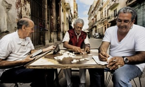 Men playing dominoes in old Havana.